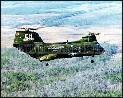 USMC CH-46 Sea Knight HMM-264 MCAS New River c1980 8x10 Aircraft Plane Photos