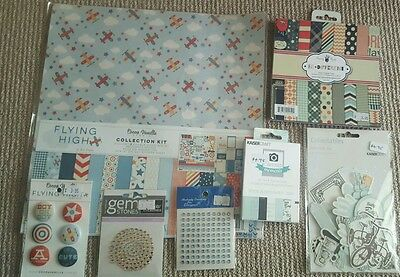 Boys Scrapbooking Bulk Papers Die Cuts Journal Cards Buttons Etc
