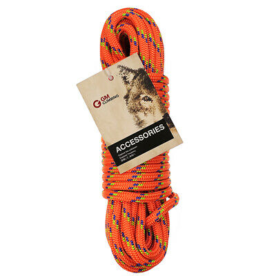 24kN 10mm Double Braid Accessory Cord Rope 20ft / 50ft for Arborist Climbing