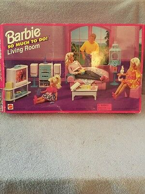 So Much To Do Barbie Living Room 1995, NRFB Mint w/LN box - 67159