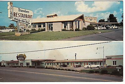 TRAVELERS MOTEL and RESTAURANT , Maryville, Tennessee, Vintage 1960's postcard