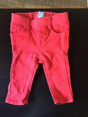 Baby Gap Unisex Boy Girl Valentine Red Stretch Skinny Jean Pant 3-6 months
