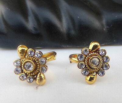 Indian Ethnic Bridal Bollywood Fashion Gold Plated Cz Stone Adjustable Toe Rings