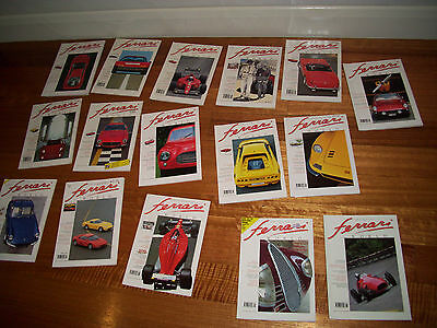 Ferrari World Cars magazines With Car Prints VINTAGE The Lot!