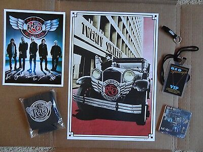 2016 Reo Speedwagon VIP Package with Numbered Limited Edition Poster 69 of 500