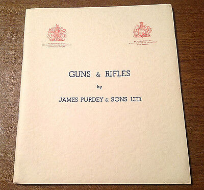 Vintage 1956 Guns & Rifles by James Purdey & Sons Catalog & History Book