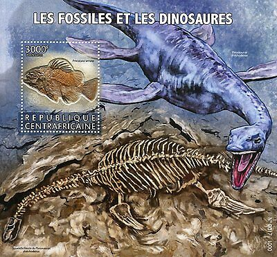 Central African Republic 2015 MNH Fossils & Dinosaurs 1v S/S Stamps