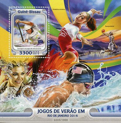 Guinea-Bissau 2016 MNH Olympic Summer Games Rio 1v S/S Olympics Canoeing Stamps