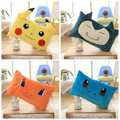 Pokemon Anime POKEMON Pikachu Plush Pillow Case Soft Spandex Cushion Cover Gifts