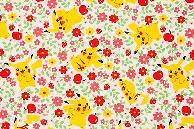 Pocket Monster Pokemon Pikachu Character Fabric made in Korea by the Yard