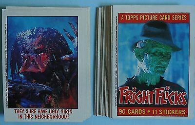 1988 Topps Fright Flicks Part Set - 29 of 90 Cards