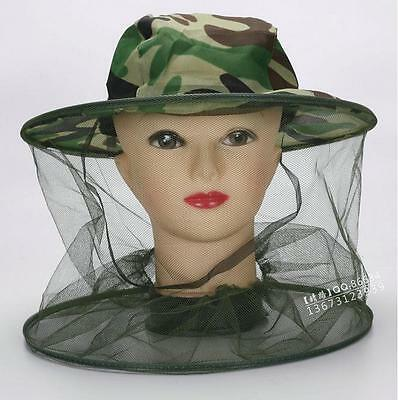 Camouflage Beekeeping Anti-mosquito Bee Bug Insect Fly Mask Cap Hat Head Net new