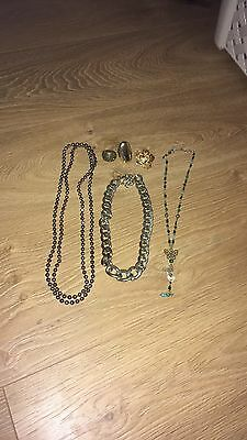 Bundle Of Necklaces And 3 Rings