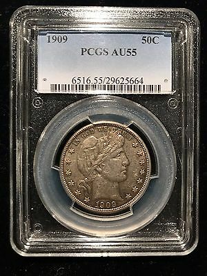1909 P Barber Liberty Half Dollar PCGS AU55 Choice About Uncirculated 50c Rare