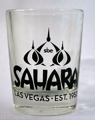 Small Sahara Shot glass from the CLOSED Hotel Casino Las Vegas NOS Unused NLA