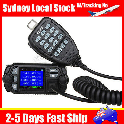 QYT KT-8900D Dual Band Quad Standby 25W 200ch Color LCD Car Mobile Radio Mic B3