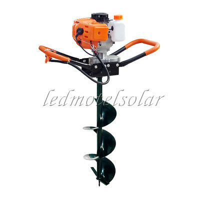 "ECO 2.2HP 55CC Petrol Earth Auger Post Hole Digger with 8"" Auger for Manor Yard"