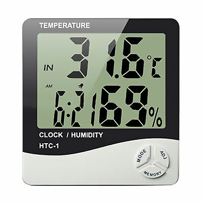 LCD Digital Indoor Hygrometer Thermometer Temperature Humidity Meter Alarm Clock