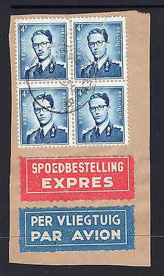 Belgium large piece with postal labels