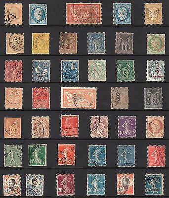 France Indo-China group of stamps from an old album see scans x2