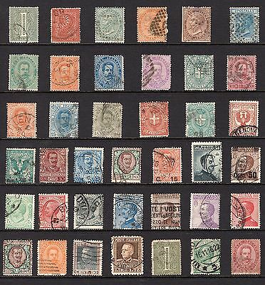 Italy page of stamps from an old album see scans x2