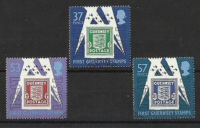 Guernsey - Set - 50th Anniv of First Guernsey Stamps - 1991 - used