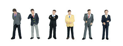 Bachmann Branchline Businessmen Figures OO Gauge 6 Pack 36-040 Model Railway