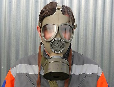 New Czech Army Civil Defence Cm-4 Gas Mask Nbc Respirator + Filter + Bag