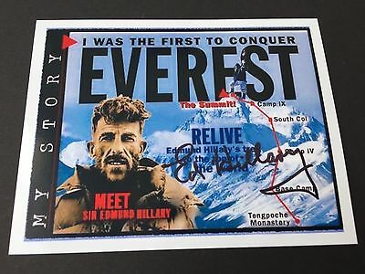 EDMUND HILLARY  († 2008) Mount Everest signed original Foto 9,5x12,5 Autogramm