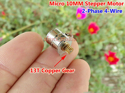 Mini 10MM Stepper Motor Stepping Motor with 13T Copper Gear 2-phase 4-wire 22ohm