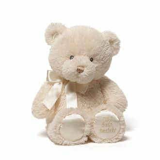 My First Teddy Bear Gund Cream  NEW Baby Safe Small 25cm/10inches long