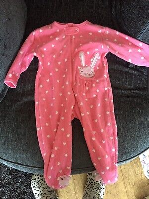 Girls Bunny All In One Sleepsuit Age 12-18 Months