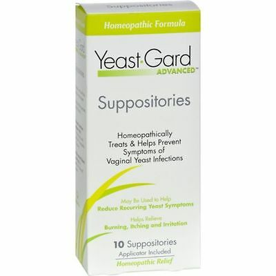Homeopathic Formula  Yeast-Gard Advanced Suppositories - 10 Suppositories 11-17