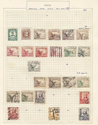 SPAIN 1938 Collection  on Old Album Page  items removed for Postage
