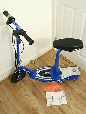 Razor E100S Electric Scooter With Seat - Blue.