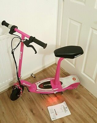 Razor E100S Electric Scooter With Seat - Pink.