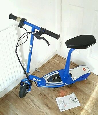 Razor E100S Electric Scooter With Seat   Blue