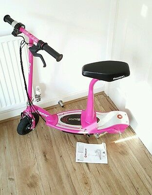 Razor E100S Electric Scooter With Seat  Pink.