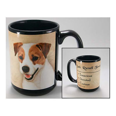 Jack Russell Terrier Faithful Friends Dog Breed 15oz Coffee Mug Cup