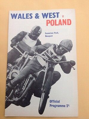 Wales & West v Poland speedway programme at Newport, 5 August 1966
