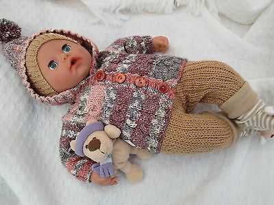 Hand Knitted Dolls Clothes Baby Annabel etc