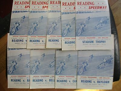 1968  Collection   Of 9 Reading  Speedway Programmes  Motor Sport