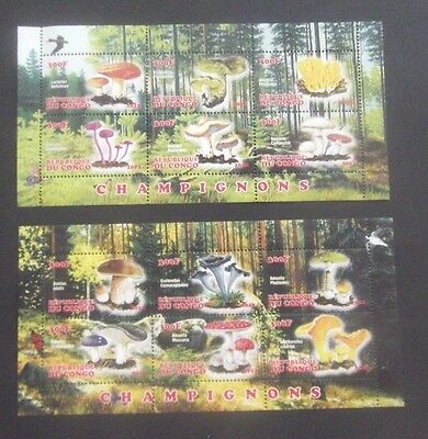 Congo-2012-Mushrooms-2 X MNH Minisheets