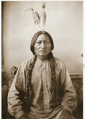 modern Postcard SITTING BULL Hunkpapa Sioux Leader North American Indians 1884
