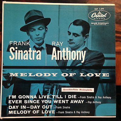 7'EP Frank Sinatra/Ray Anthony  Melody of Love  Germany/US MUSTERPLATTE!