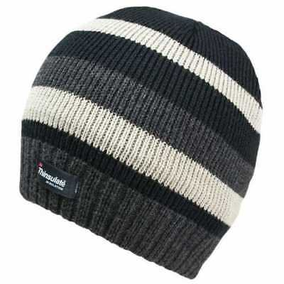 Mens Beanie Hat Fleece Lined Thinsulate Thermal Insulation Walking Hiking Work