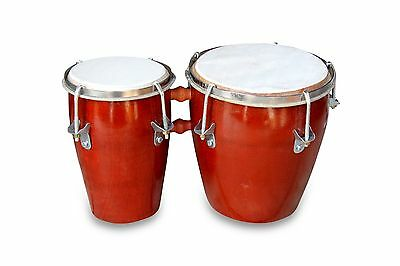 Handmade Professional Bongo Drum Hand Taal Instrument Nut Bolt Adjusted 1259