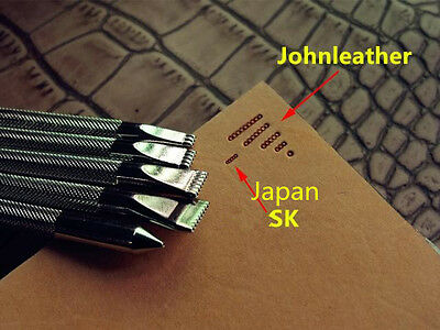 Johnleather Craft Tool Alloy Metal Background Stamps Tool Set LS.A101-1-3-5-7-9