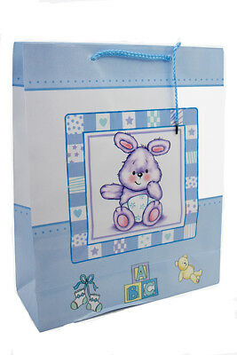 Large Glossy Blue New Baby Boy Gift Bag