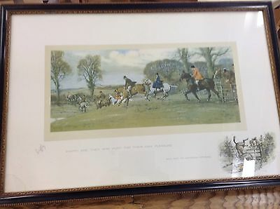 Snaffles original signed print (happy are they who hunt their own pleasure)